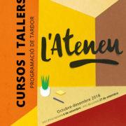 Portada del programa de cursos i tallers de l'Atenue, tardor 2018