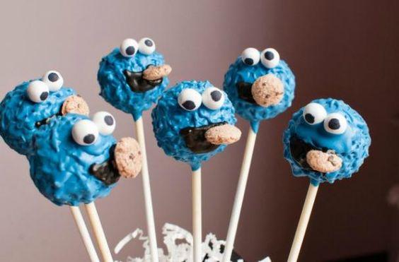 Cake Pops del monstre de les galetes de Tartas de Luna Llena