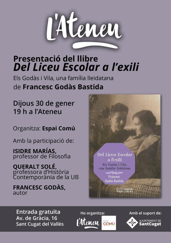 Presentació del llibre Liceu exili